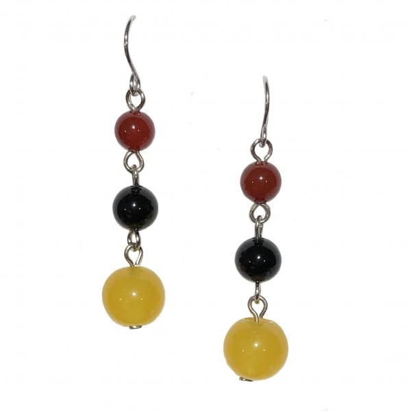 Yellow/Black Onyx Earrings