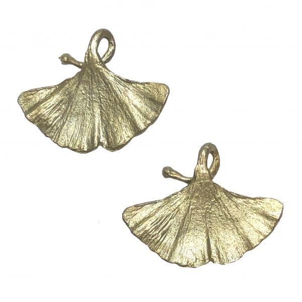 Michael Michaud Gingko Clip-On Earrings
