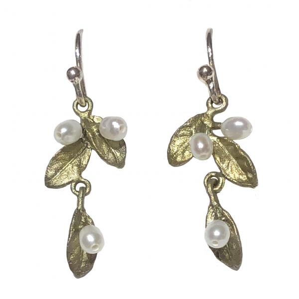 Michael Michaud Petite Leaf Small Drop Earrings