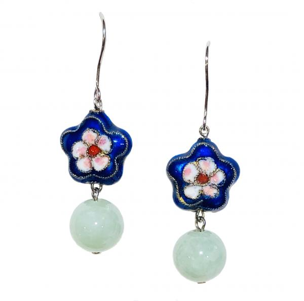 Cloisonne Jade Earrings