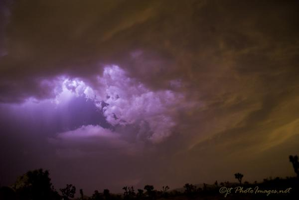 Cloud Lightning Strike Joshua Tree National Park picture