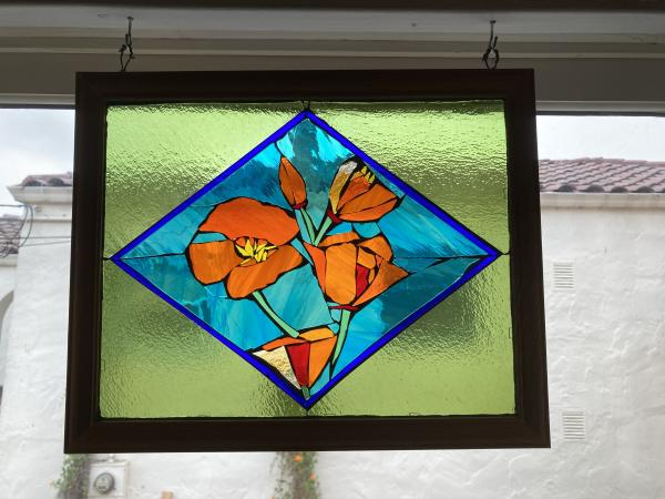 California Poppies Suncatcher