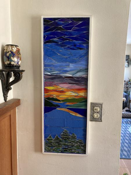 Lake Tahoe Sunset Mosaic Wall Art