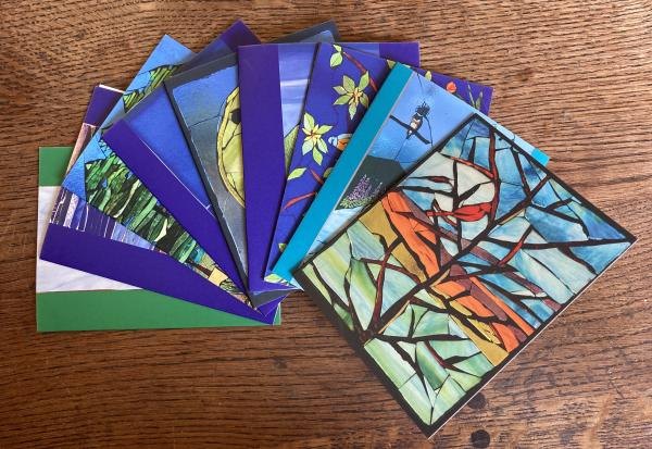 Set of mosaic print notecards