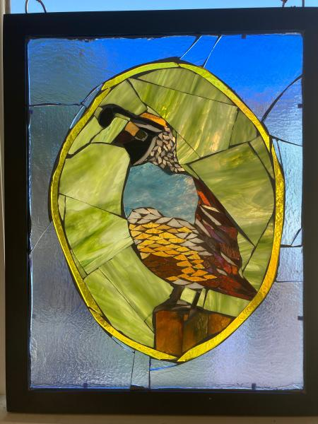 California Quail Suncatcher