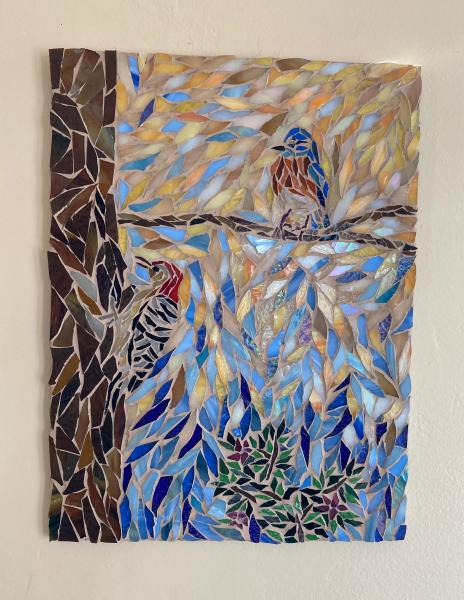 Two Birds Glass Mosaic Artwork