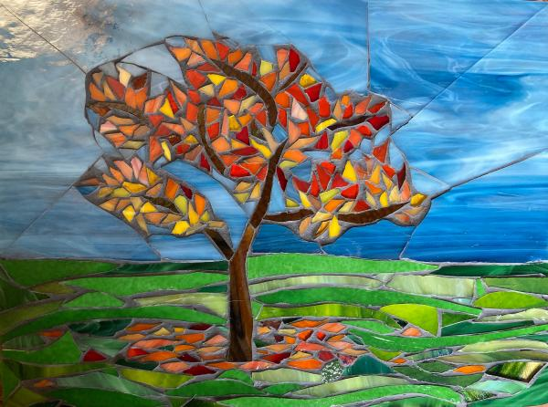Autumn is Here Glass Mosaic Wall Art