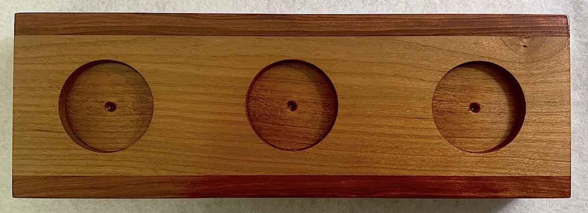 Cherry and Redheart Votive Holder