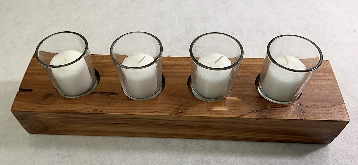 Cedar Votive Holder