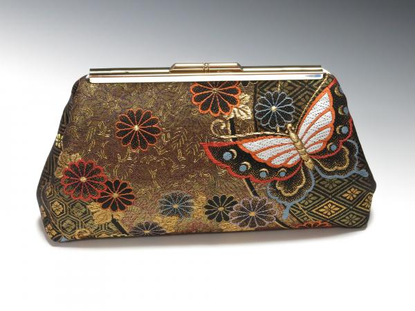 Japanese Silk Obi Clutch - Butterflies!