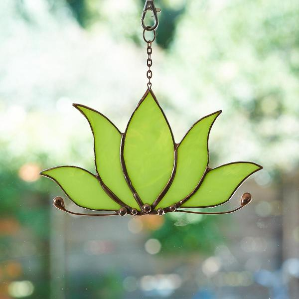 Stained Glass Lotus Suncatcher