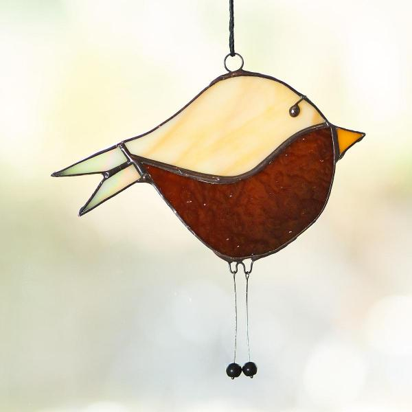 Two-tone Bird Suncatcher -Black Finish