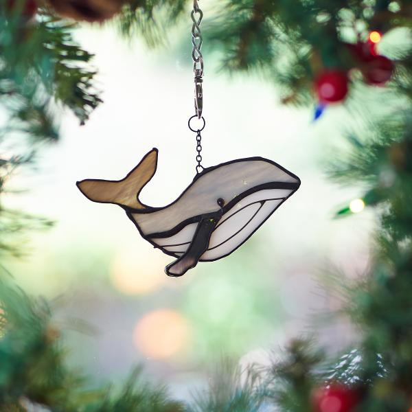 Stained Glass Whale Suncatcher
