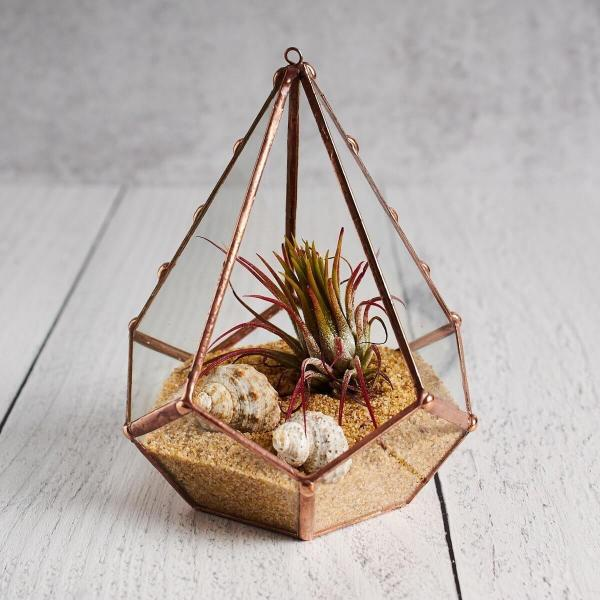 Tiny Teardrop Stained Glass Air Plant Holder