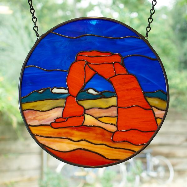 Delicate Arch Stained Glass Window Panel