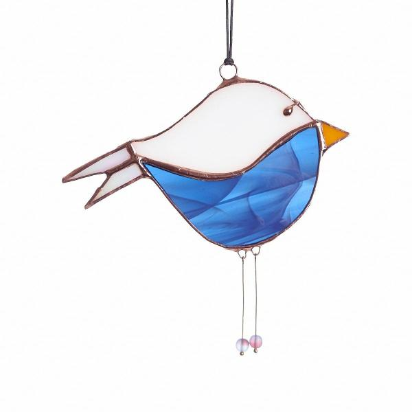 Two-tone Bird Suncatcher - Copper Finish