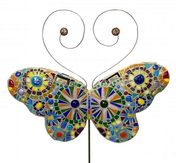 Mosaic Butterfly Garden Stake