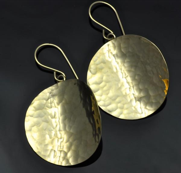Arts & Crafts hammered round earrings