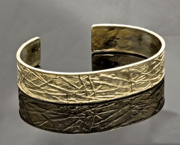 Frost Pattern repousse' cuff