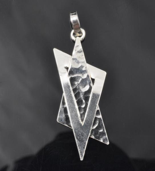 Argentium sterling silver Star of David pendant