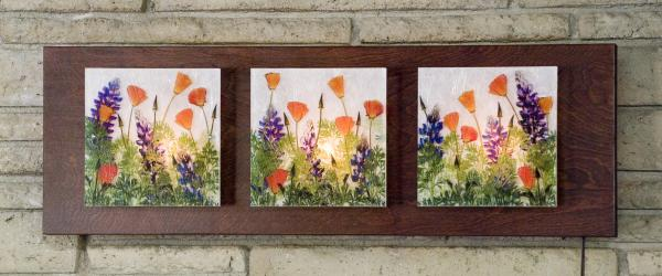 3 Panel Sconce (Poppies and Lupine) picture