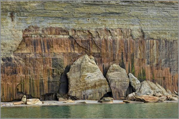"PICTURED ROCKS - gallery-wrapped canvas • 8"" x 12"" • $40 / 16"" x 24"" • $120"
