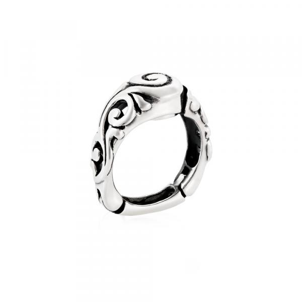 Hinged Scroll Pattern Top Opening Ring Style KS536