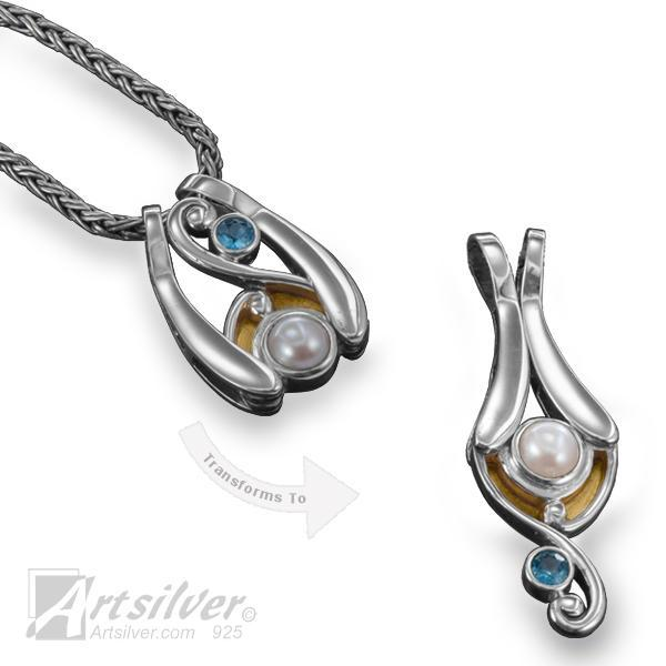 Transforming Multiform  two tone Pendant Style KS471