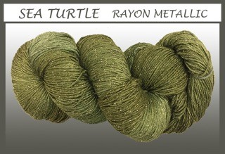 Sea Turtle Rayon Metallic