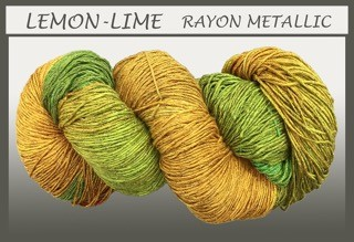 Lemon Lime Rayon Metallic
