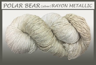 Polar Bear/silver Rayon Metallic