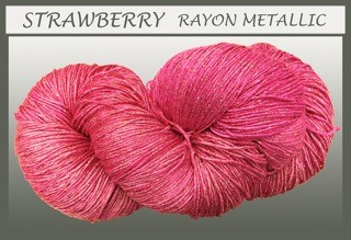 Strawberry rayon metallic
