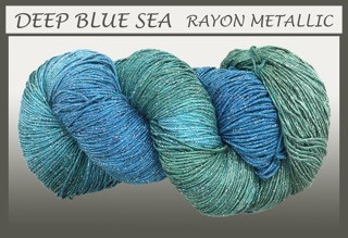 Deep Blue Sea Rayon Metallic