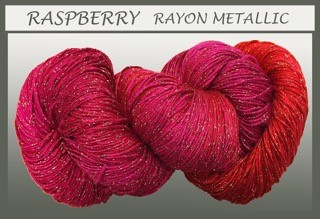 Raspberry Rayon Metallic