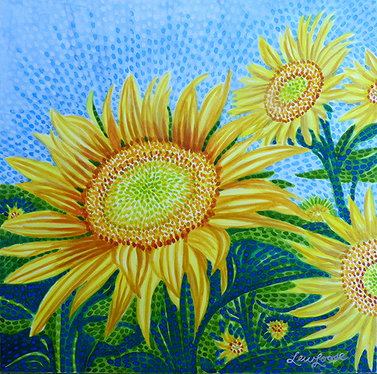 "Watercolor Canvas Gallery Wrap Print - 8""x8"" - ""Sunflower"""