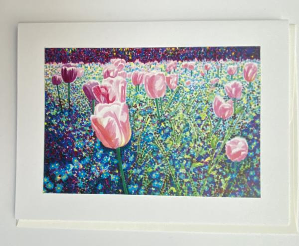 "Blank Notecards ""Tulip Breath"""