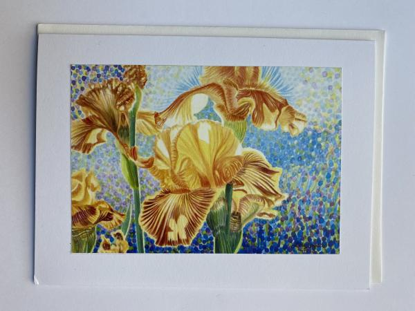 "Blank Notecards ""Iris Sun Rising"""