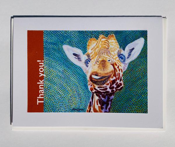 "Blank Notecards ""Thank You - Giraffe"""