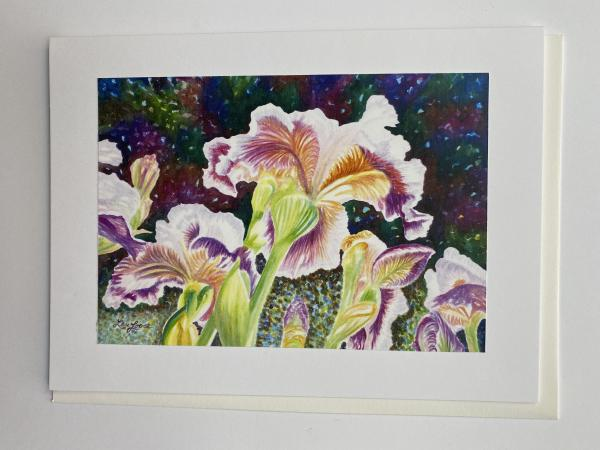 "Blank Notecards ""Iris Swaying"" picture"