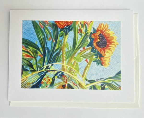 "Blank Notecards ""Sunflower Fishbowl"""