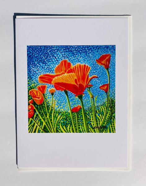 "Blank Notecards ""Poppy Swaying"""