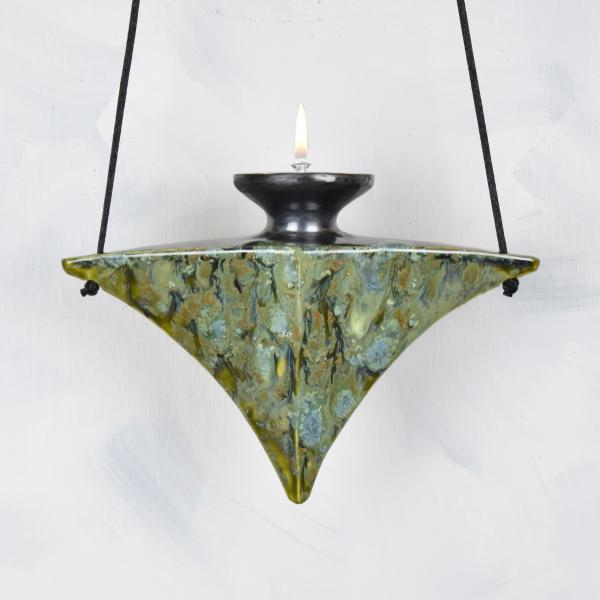 Deco Lamp in Lively Green Glaze