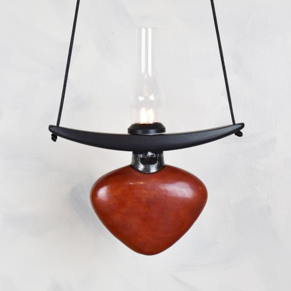 Red Heart with Glass Chimney