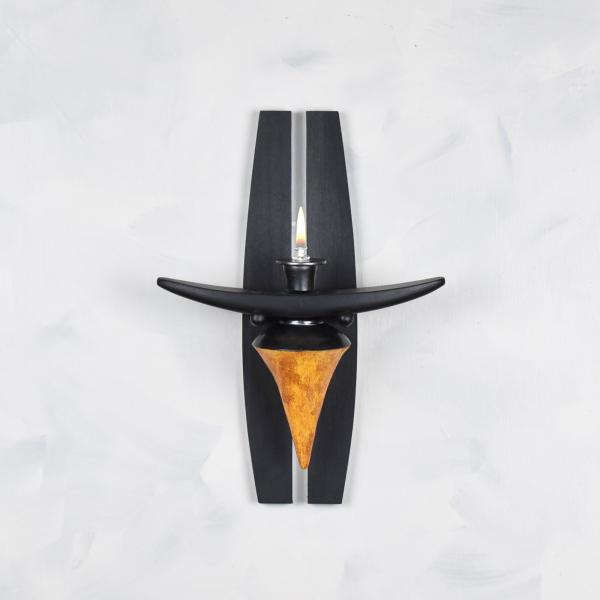 Sconce- Cone shape with Matte Orange Glaze