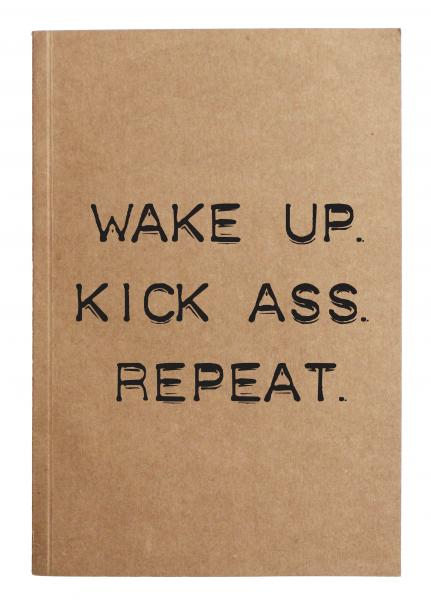 Wake up kick ass notebook picture