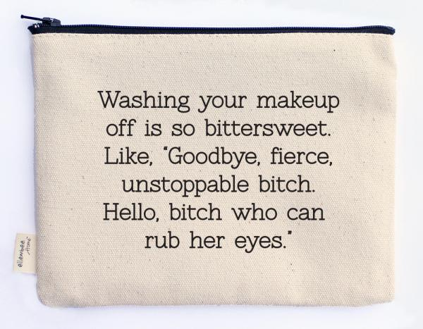washing off your makeup zipper pouch picture