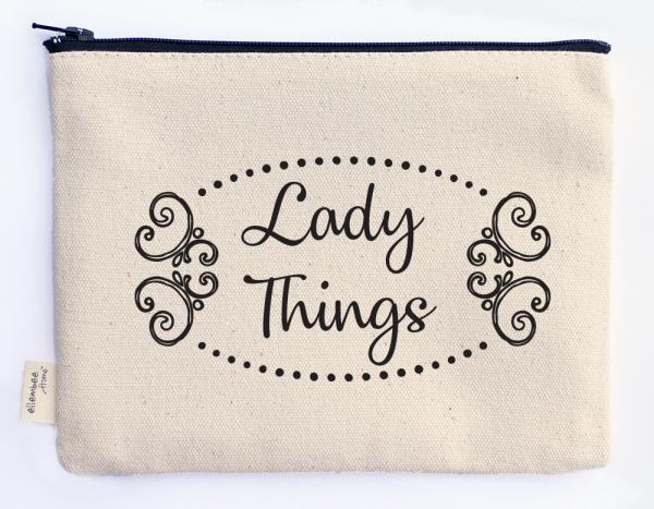 lady things zipper pouch picture