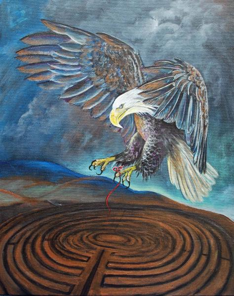 Eagle Over Labyrinth Print