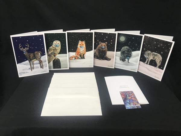 Masked Animals Greeting Cards
