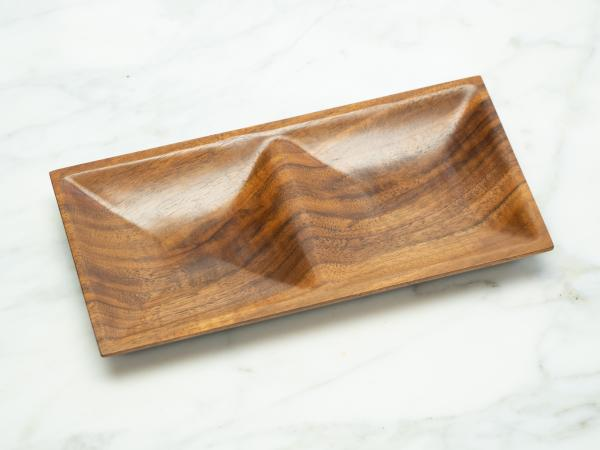 Walnut Jewelry Dish or Valet Tray